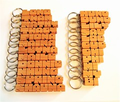 Name Keychains in Cherry Wood (DustyNewt Scott) Tags: wood wooden woodworking personal personalized name keychain handmade custom madetoorder fob keyfob letters dustynewt cherry chi fiona maika maile tram bi donnie long loc nhung lily sau kathy tracy leyna phi dung mi spring hung cuc shauna my