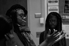 Woosh (Brother Christopher) Tags: class youth lessons teach saturday bx thebronx lehmancollege trio trioworks special portrait blackandwhite kids academy culture fun explore explored brotherchris nyc students indoor indoors