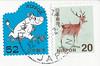 Japan stamps (lynseelyz) Tags: japan stamps moomin postcards douban directswap