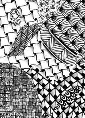 zentangles(3/8) (Chimerastone) Tags: atc artisttradingcard drawing artsy doodle mindfulness mailart tangle papercraft meditative zentangle