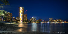 Rainbow Tower at Night (ShootingPrettyThings) Tags: hawaii us unitedstates waikiki honolulu rainbowtower