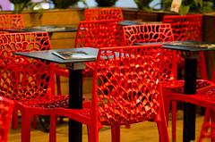 Red chair restaurant (SLX_Image) Tags: red france pattern languedoc reastaurant bziers