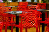 Red chair restaurant (SLX_Image) Tags: red france pattern languedoc reastaurant béziers