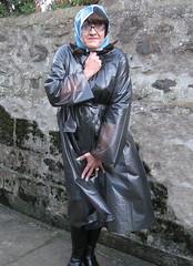 Plastic Mac (Miss Pakamac) Tags: rainbonnet plasticraincoat plasticrainwear plasticmac pakamac