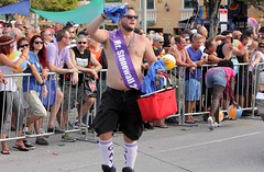 Mr. Stonewall 2015 (LarryJay99 ) Tags: gay people hairy man male men guy smile pits goatee arms masculine candid manly glbt guys parade dude stonewall facialhair dudes stud studs armpits virile efs60mmf28macrousm