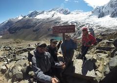 Photo de 14h - Trek de Santa Cruz, fatigués au point culminant à 4750m (Pérou) - 28.06.2014