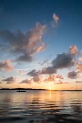 Paddling at sunset (BrianEden) Tags: travel sunset sky clouds keys bay fuji unitedstates florida fujifilm fl islamorada lorelei babymoon xpro1 brianedenphotography
