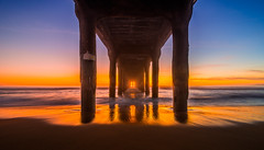 Manhattan Beach Pier (meeyak) Tags: ocean longexposure nightphotography sunset seascape beach beautiful night dark la pier losangeles los nikon angeles dusk manhattan smooth socal slowshutter manhattanbeach hoya d800 lowepro ndfilter mefoto meeyak