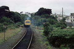Falmouth Docks station (8), 1991 (Blue-pelican-railway) Tags: film station train docks cornwall railway falmouth dmu