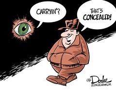 SR concealed cartoon (DSL art and photos) Tags: ohio gun pistol permit editorialcartoon secondamendment concealedcarry donlee