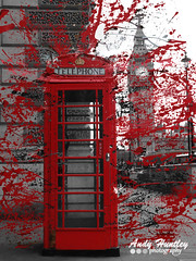 Westminster Phone Box (ahuntley2) Tags: red london westminster arty telephone politics bigben telephones blackandwhitephotography telecommunications redpaint telephoneboxes expoding spotcolorphotography spotcolourphotography