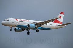 Austrian / Airbus A320 / OE-LBJ / EBBR 25R (_Wouter Cooremans) Tags: aviation landing airbus approach austrian bru a320 zaventem ebbr brusselsairport avgeek 25r oelbj