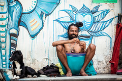 Happy man (lunarlynx) Tags: life street travel portrait people india inspiration man face yoga happy colorful asia vibrant indian places holy explore destination traveling dailylife simple hindu hinduism discover rishikesh vib