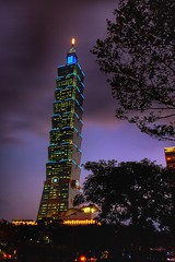 Taipei 101 (linwujin) Tags: asia taipei101 taiwan fujifilm xt1 xf1655 night light building tower