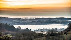 Coucher de soleil sur la mer de nuages. (virginiefort) Tags: afs241204ged d600 auvergne coucherdesoleil france nikon sunset