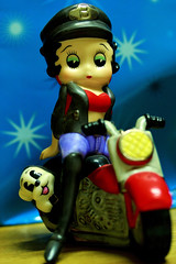 Macro Monday – Redux 2016—My Favourite Theme of the Year (macduff312) Tags: macromonday macro monday bettyboop cartoon child motorbike leather jacket salt pepper girl canon d600 60mmmacro
