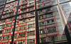 """50's meets 80's"" (hugo poon - one day in my life) Tags: xt2 23mmf2 hongkong northpoint northpointroad kingsroad curtainwall winter windowtypeac 50s 80s architecture vanishing cornerbuilding colours red coronetcourt city urban window"