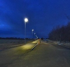 The road to..... ? (I.L. Norway) Tags: lampposts streetlight gatelys evening blåtime kveld norway norge blått blå blue langbach