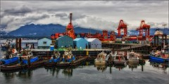5155-       The Harbour (canuckguyinadarkroom) Tags: vancouverbc harbour boats