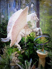 Down in the forest, something stirred.... (perseverando) Tags: christmas decorations horse winged pegasus forest astrolabe perseverando