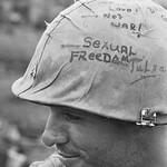 Con Thien 1967 - Writing on Marine's Helmet thumbnail