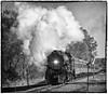 Steam and Roar (Jim_In_Plymouth) Tags: trains minnesota steam ironhorse rail blackandwhite bnw 261