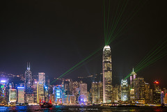 THE SYMPHONY OF LIGHTS IN HONG KONG (::: a j z p h o t o g r a p h y :::) Tags: hongkong symphonyoflights laser victoriaharbour cityscape nightscape night nightphotography nighttime skyscrapers buildings city citylight