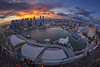 Epic Sunset at Sands Skypark Observation Deck, Marina Bay Countdown Singapore 2017 (gintks) Tags: gintaygintks gintks singapore singaporetourismboard marinabaysands marinabayfinancialcentre marinabay fullerton epicsunset mbsc2017 lightshow countdown