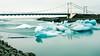 Motion of water (webeagle12) Tags: nikon d7200 europe landscape vatnajokull national park iceberg ice glacier lake southeast iceland lagoon breiðamerkurjökull jökulsárlón bridge