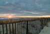 Sunrise at Sea Bright (aka Buddy) Tags: 2017 winter sunrise beach atlantic ocean sky clouds waves fence sand dune seabright newjersey nj og hdr