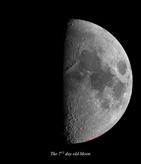 First quarter (ArthurFentaman) Tags: moon 2016 astrology astronomy copernicus copy crater exploration folklore gibbous gravity legend luna lunar magnetic mystical orb sea space sphere text tide tranquility tycho waxing ocean celestron cpc 925 zwo asi 224mc uk mkas midkentasroorguk kent