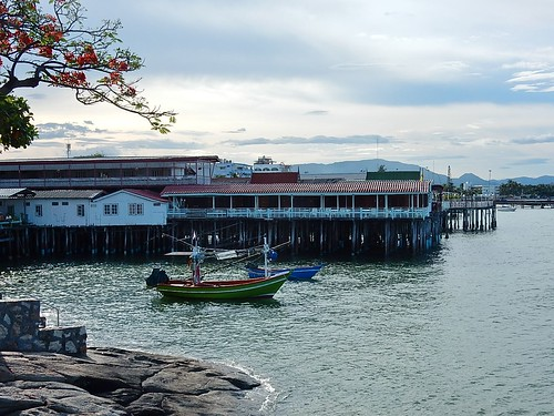 Fishing Boats and Restaurant Piers