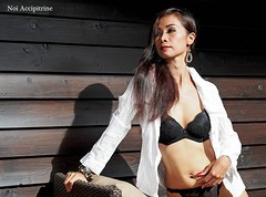 Sexy white outfit (Simply becca2015) Tags: white model rebecca panganiban sexyoutfit