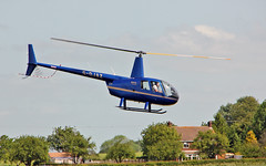 G-OJAZ Robinson R.44 Raven II (PlanecrazyUK) Tags: fly in sturgate 070615 robinsonr44ravenii egcv gojaz