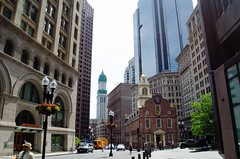 Around the Old State House (KKfromBB) Tags: new old city june boston architecture buildings nikon district historic financial oldstatehouse bostonmassacre 2015 nikond5100 kkfrombb