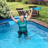 Lynda got home from gym all hot and sticky so jumped straight into the pool fully clothed to clear it out! Looking good in wet tee shirt! #wetteeshirt #wetgirl #wetclothes (clive.sayer) Tags: wetclothes wetgirl wetteeshirt