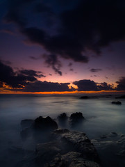 The Edge Of Tomorrow (FromHereOnIn.com) Tags: ocean travel light sunset red seascape beautiful clouds dark landscape hawaii twilight rocks shoreline scenic peaceful location slowshutter end coastline bigisland depth kona kailuakona fromhereonin christopherjohnson