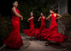 Young Dancers and Old Cars (Flavio~) Tags: girls cars outdoors dancers flash flashphotography collection flamenco classiccars 1884 2015 gedera club5 classicdance carmelnatansheli
