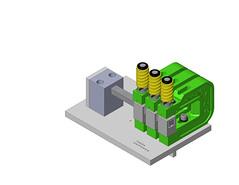 Custom block style mandrel tube punching setup on template (UniPunch) Tags: