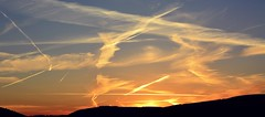 Sunset over Twmbarlwm Mountain (Charles Dawson) Tags: sunset newport