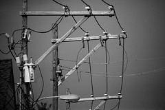 Power Lines (Ollie - Running on Empty) Tags: blackandwhite monochrome powerlines cables wires poles sigma150600 oliverleverittphotography nikond610 sigma150600mmsport sigma150600sport sigma150600mmf563dgoshsm|s