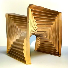 octagon (mike.tanis) Tags: gold origami octagon hyperbolic minimalsurface