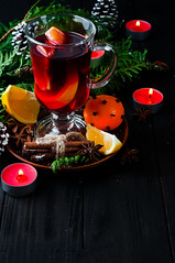 Mulled wine, tree branch and spices (lyule4ik) Tags: wine mulled holiday hot christmas spice background tree branch pine wooden warm decoration table slice red candle punch festive orange fir cinnamon made roll green craft sweet decorated seasonal magic bright glass grog badiana xmas shape tray fruit spiced cup stars baked beautiful alcohol ornaments sticks drink vintage food beverage