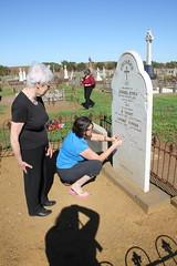 visiting ancestor - Michael O'Dea_9351 (gervo1865_2 - LJ Gervasoni) Tags: visiting ancestor michael odea tower hill cemetery 2016 kpc amg ckg south west victoria australia photographerljgervasoni