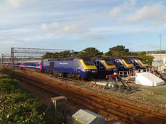 43053, 43169, 43139 & 43140 Longrock TMD (Marky7890) Tags: gw class43 hst longrocktmd railway penzance cornwall train 43053 43169 43139 43140