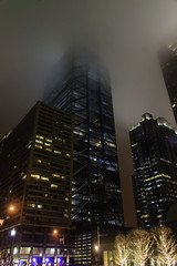 Visually Cropped (phillytrax) Tags: philadelphia philly pa pennsylvania cityofbrotherlylove 215 city urban usa america unitedstates metropolis metropolitan night fog ctc comcasttechnologycenter skyscraper highrise construction foggy mist