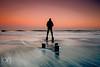 Selfie (ianbrodie1) Tags: selfie posts beach sea seascape person sillouette waves nikon sunset