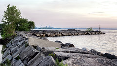 The Breakwall (HJharland5) Tags: outdoor breakwall lakeerie lake water dusk downtown fishing cleveland ohio sky tree rocks spring