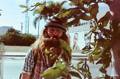 the guy (silkfatblues) Tags: portrait theguy beard westpalmbeach film 35mm leica leicam3 voigtlander agfavista200