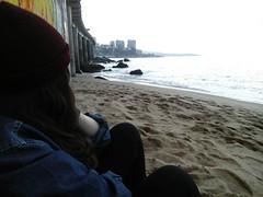 Skylines, bridge,sand and ocean (danaeortiz) Tags: alternative grunge pacificocean sky sang thinking themoment relax moment ocean ipodphotos ipod caption